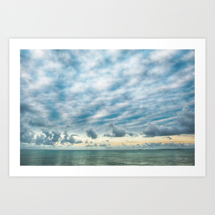 Sea and Cloud Art Print
