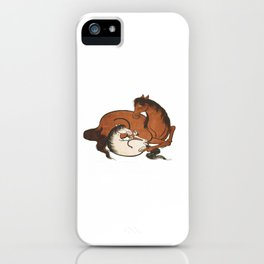 Hokusai – mare and foal, 葛飾 北斎,horse,caballo,equestrian,equine,yegua,potro,japan. iPhone Case