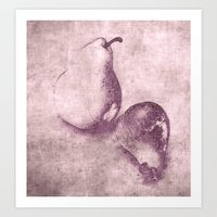 pear Art Prints featuring pear by otherside