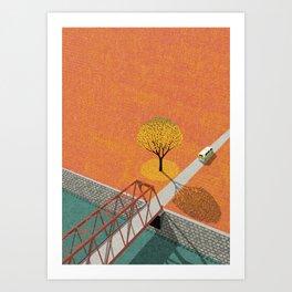 Autumn sunshine Art Print