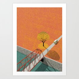 Autumn sunshine Art Print