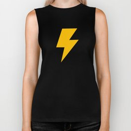Cartoon Lightning Bolt pattern Biker Tank