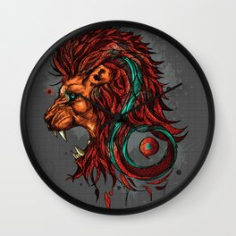 Leo The Lion - Zodiac Sign Wall Clock