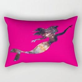 Galaxy Mermaid 4 (Magenta) Rectangular Pillow