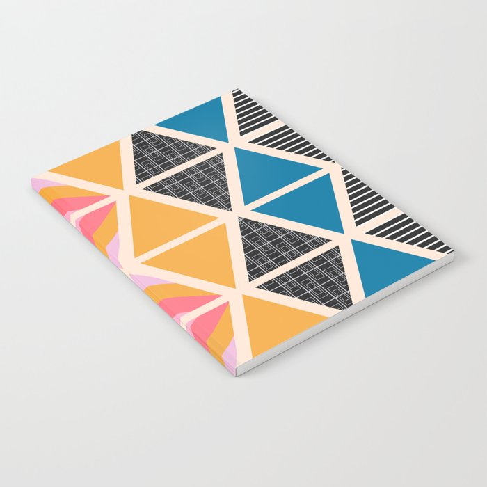 Triangle collage Notebook