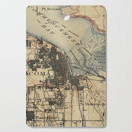 Vintage Map of Tacoma Washington (1895) Cutting Board