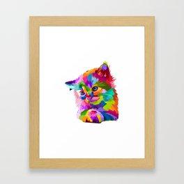 Cat T-Shirt Cat T Shirt Kitty Shirt Kitty T Shirt Framed Art Print