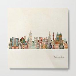 san antonio skyline Metal Print