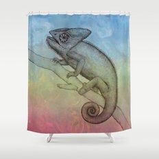 Chameleon (3) Shower Curtain