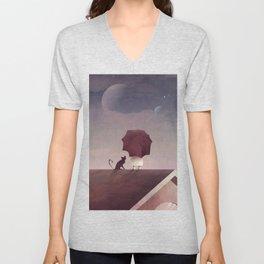 Twin Moon Unisex V-Neck