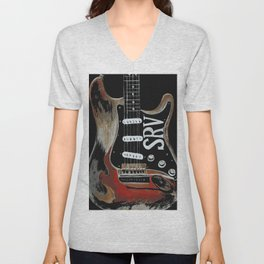 Stevie Ray Vaughan's Guitar Unisex V-Neck