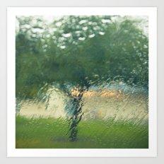Rainy Tree Art Print
