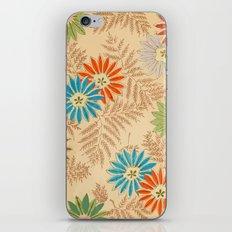 Japanese Vintage Flowers Pattern iPhone Skin