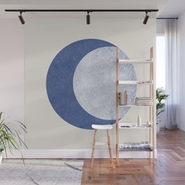 Moon Crescent - Blue Wall Mural