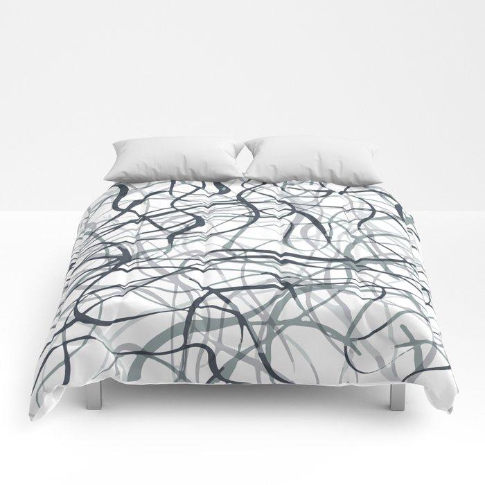curvy gray & black Comforters