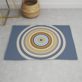 Minimalist Cool Color Circle Rug