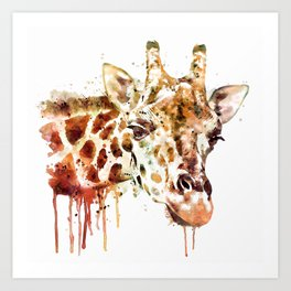 Giraffe Head Art Print