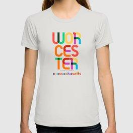 Worcester Massachusetts Mid Century, Pop Art, T-shirt