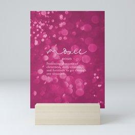 Moxie Definition - Pink Bokeh Mini Art Print