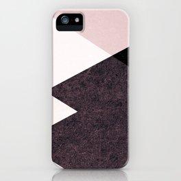 Geometrics III - pink granite & marble iPhone Case