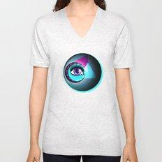 Halftone Eyeball Unisex V-Neck