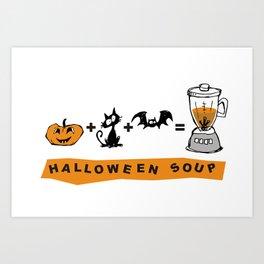 Halloween soup Art Print