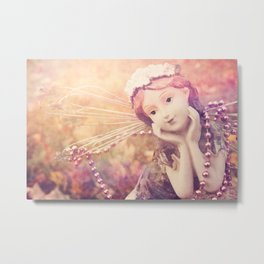 Autumnal Fairy Metal Print