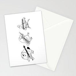 Keytar Platypus Venn Diagram White and Black Stationery Cards