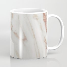 Marble Rose Gold Shimmery Marble Coffee Mug