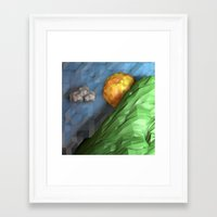 low poly Framed Art Prints featuring Low Poly Sunset by cnrgrn