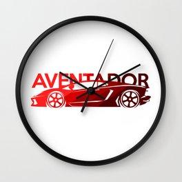 Lamborghini Aventador - classic red - Wall Clock