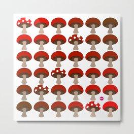 Mushroom in White Metal Print