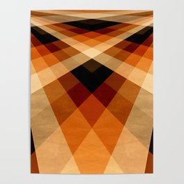 Autumn Groovy Checkerboard Poster