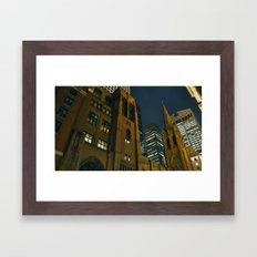 Midtown at Midnight Framed Art Print