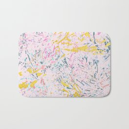 Pine Leaves - abstract pattern Bath Mat