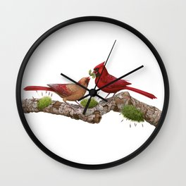 Northern  Cardinals Wall Clock
