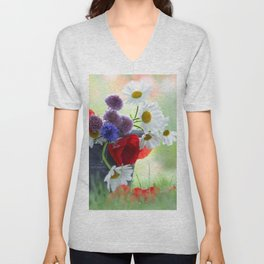 Flower potpourie from the cottage garden Unisex V-Neck