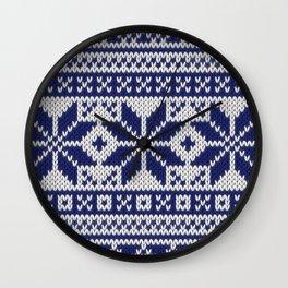 Winter knitted pattern 5 Wall Clock