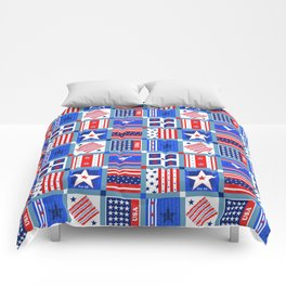 4th July Patchwork Comforters