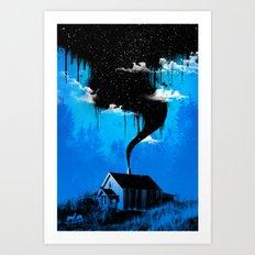 Black Smoke Art Print