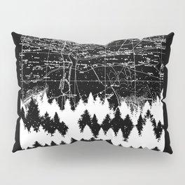 Map Silhouette Square Pillow Sham