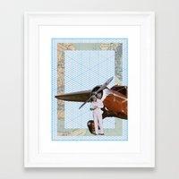 aviation Framed Art Prints featuring Aviation by Allegra Jones