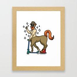 HIPSTER CENTAUR greek centaurus mythology horse Framed Art Print