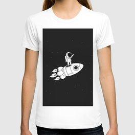 Sweet Astronaut Stays on Rocket T-shirt