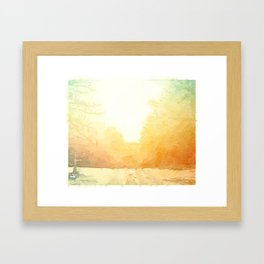 The East Framed Art Print