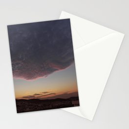 Flying face Stationery Cards