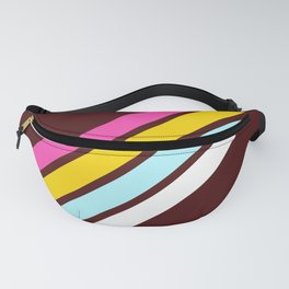 80's Style Retro Stripes Fanny Pack