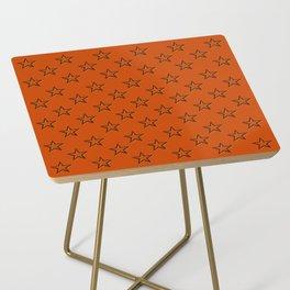 Orange stars pattern Side Table