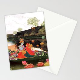 Musical evening at lake side Stationery Cards