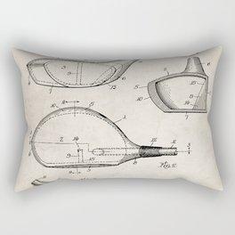 Golf Driver Patent - Golf Art - Antique Rectangular Pillow